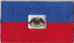 Haiti State Embroidered Flag Patch, style 04